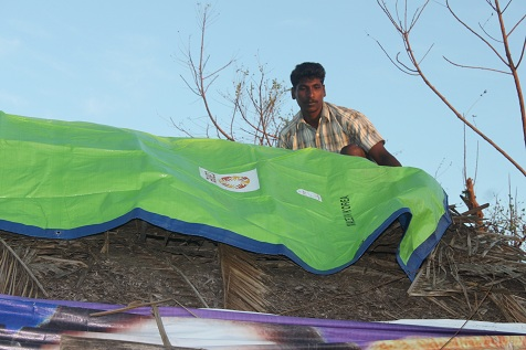 CARE offers sustained relief for victims of Cyclone Thane India
