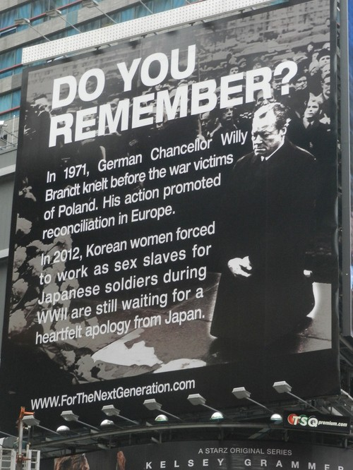 It's a current issue: human rights violations against Japan's ex-Comfort women