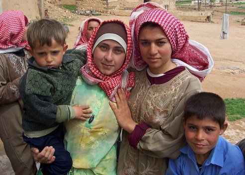 Children and teens in Aleppo, Syria