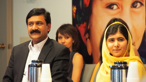 Girl's education hero Malala Yousafzai says 'books not war' makes peace