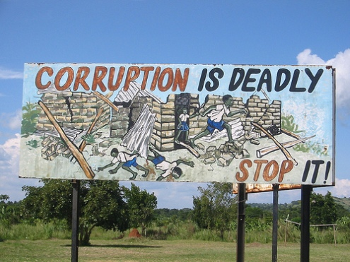 Is internal corruption slowing progress in developing countries?