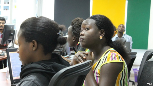 Ugandan Women learn programming language from Girl Geeks