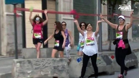 Lebanese women 'run forward' for their rights in Beirut marathon