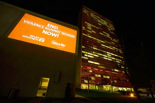 The color orange brings hope that we can stop violence against women