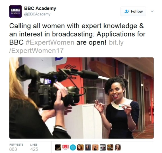 Does BBC News training hold women to a different standard?