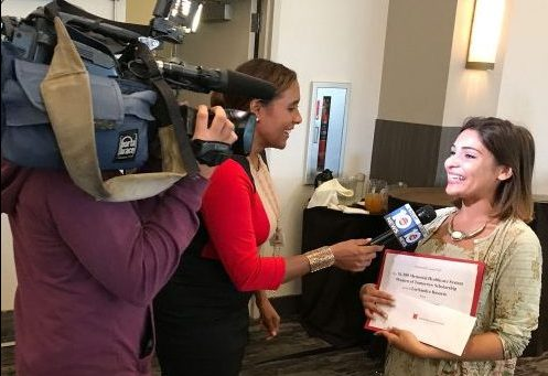 mentee being interviewed