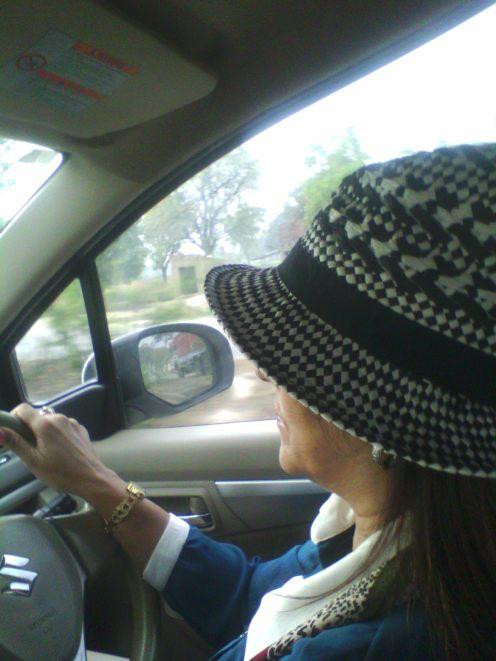 Monicka at the wheel