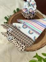 Bandana for your pet, matching scrunchie for you!