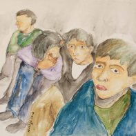 I was haunted by the faces of some young Kurdish boys arrested and sitting outside the prison.