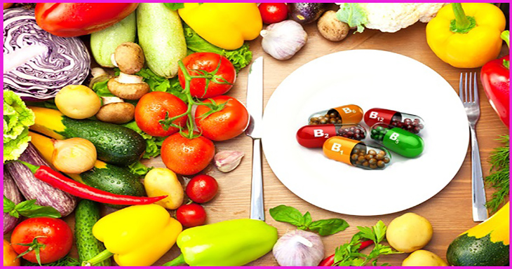 Fresh Organic Vegetables Around White Plate with Knife and Fork
