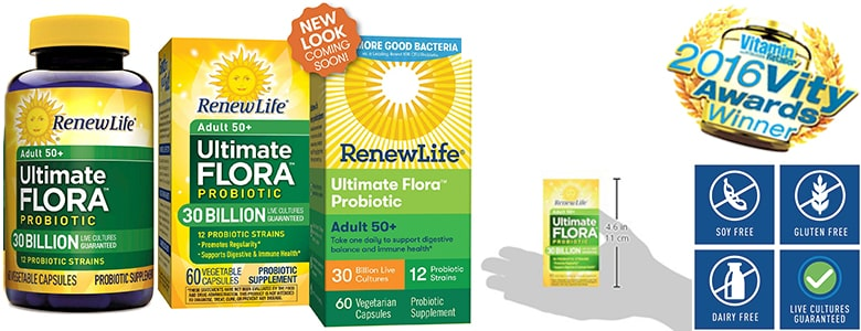 Renew Life Adult 50+ probiotic for women