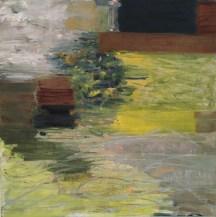 "Donna Scarpa, ""Meadow Walk,"" Oil on Linen, 18""x18"" - SOLD"