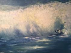 """Crashing Wave,"" Oil on Canvas, 36""x28"""