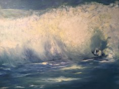 """Crashing Wave,"" Oil on Canvas, 36""x28"""