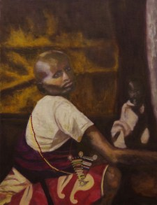 """""""Maasai Mother,"""" Oil on Linen, 20""""x26"""""""