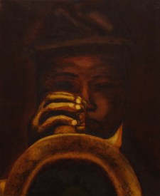 """The Trumpeter,"" Oil on Linen, 15""x18"""