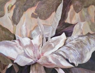 """White Magnolia,"" Oil on Linen, 40""x32"""