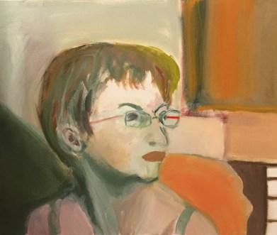 """Self Portrait #7,"" Oil on Linen, 24""x18"""