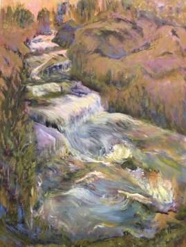 """Huka Falls,"" Oil on Linen, 22""x30"""