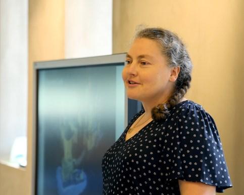 Alice Finsh speaking in Hong Kong at a WBI workshop