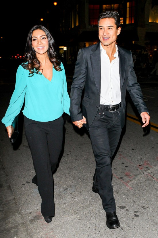 Mario Lopez and Courtney Mazza enjoy a night out at The Grove