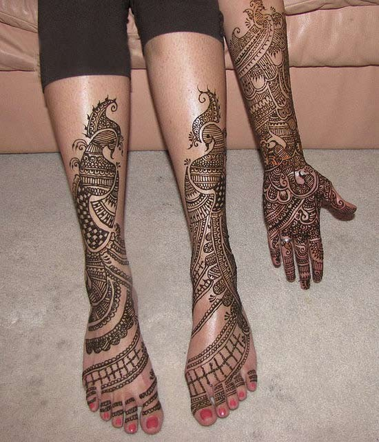 rajasthani mehndi designs for legs Image 01