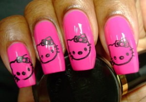 Create Hello Kitty Nail Designs at Home