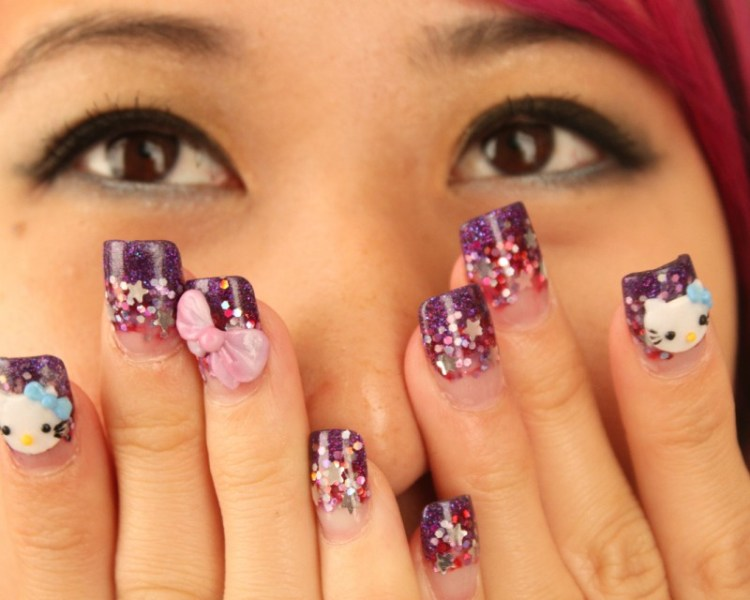 Create Hello Kitty Nail Designs at Home 03