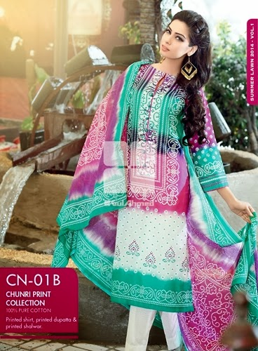 latest chunri prints, Chunri prints 2014 Gul Ahmed