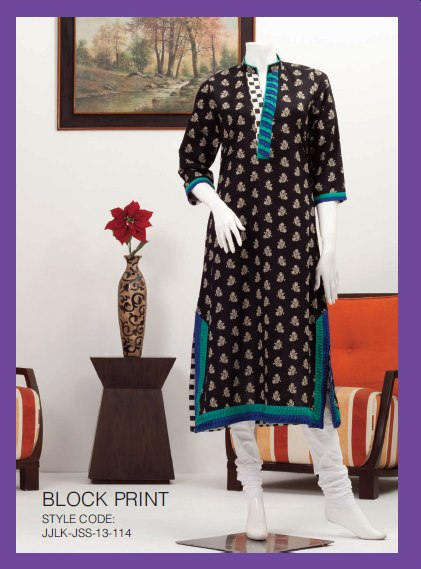 Junaid Jamshed Unstitched Lawn Collection 2014, Kurti Collection