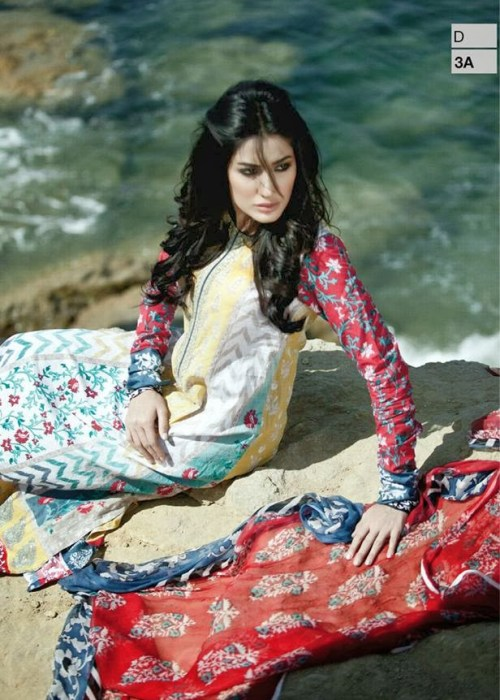 Maria B Lawn Dresses For Girls 2014, Maria.B Summer Lawn Catalogue 2014