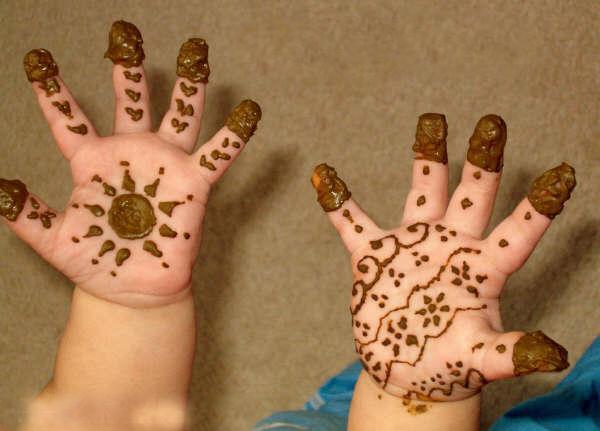 Mehndi Designs Hands Kids Easy For