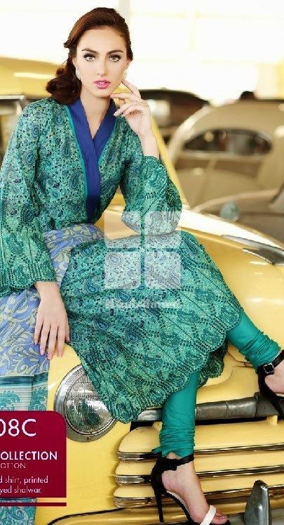 Gul Ahmed Printed Lawn Collection 2014, summer dress lawn collection