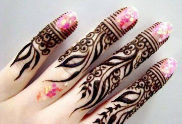 Arabic Mehndi Design for Fingers