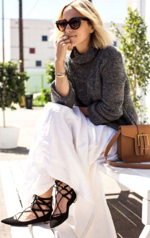 The perfect way to wear flat heels