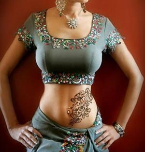 Get Latest tattooed – with Mehndi!