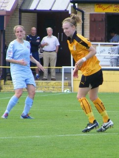 An injury time leveller for Becky Taylor