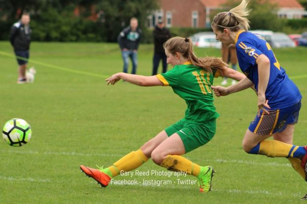 A double hat-trick at the weekend for Newmarket Town Women's striker Annabel Cuthbert