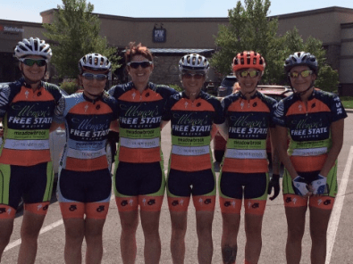 6 teammates after team ride