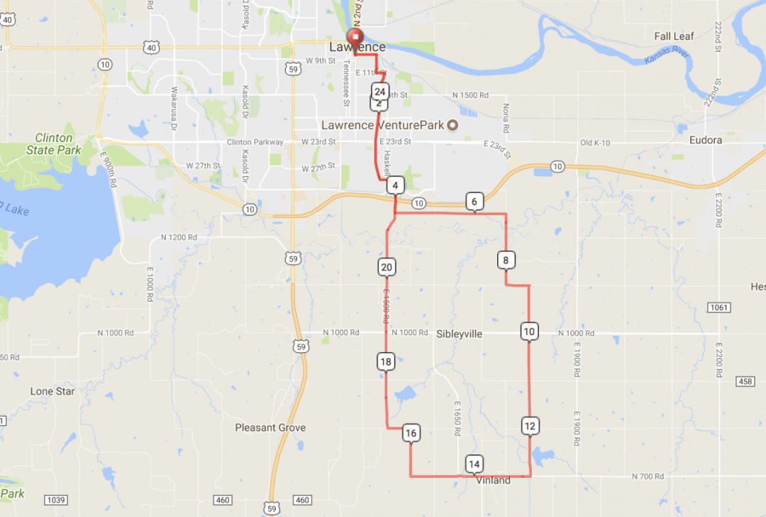Donut Ride Short Route