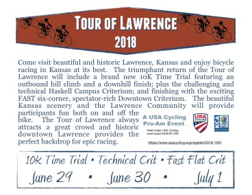 Tour of Lawrence Race Flyer