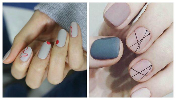 дизайн ногтей минимализм 5