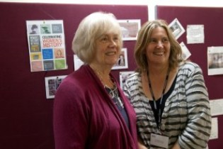 Maggie Andrews with Community History Prize winner Ruth Beazley for Triangle Mill Sisters