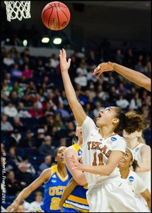 Brooke McCarty drives for the bucket. Photo by Robert L. Franklin.