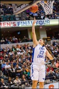 Kelsey Hoppel scores inside. Photo by Robert L. Franklin.