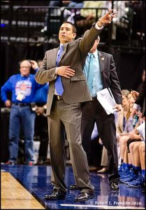LCU coach Steve Gomez was emotional after the win. Photo by Robert L. Franklin.
