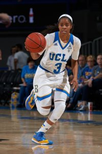 Jordin Canada was ranked second in the Pac-12 last year in both assists and steals. She averaged 16.1 points per game. Photo courtesy of UCLA Athletics.