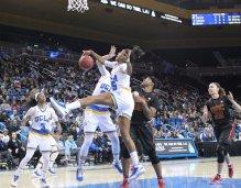 Monique Billings battles for the rebound. Photo by Benita West, TGTVSports1.