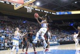Kennedy Burke collects the rebound. Photo by Benita West, TGTVSports1.