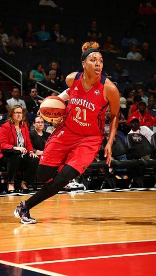 Tianna Hawkins returns to the Mystics this season after missing 2016 due to injury. Photo by Ned Dishman/NBAE via Getty Images.